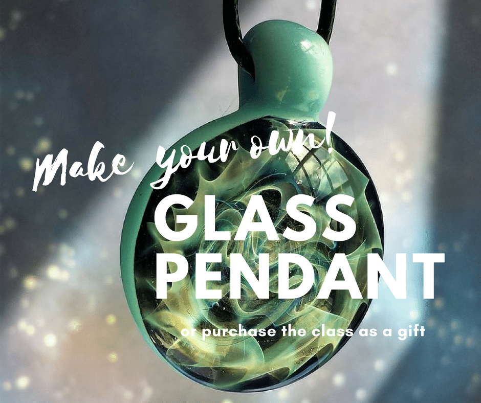 glassblowing class pendent