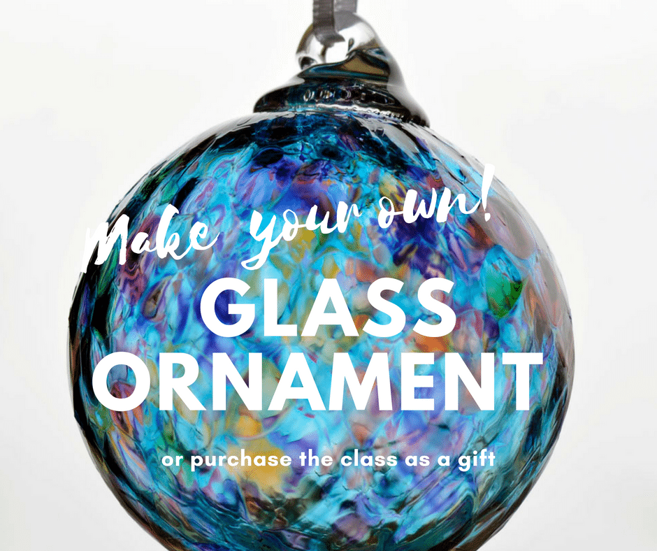 make your own glass ornament class purchase